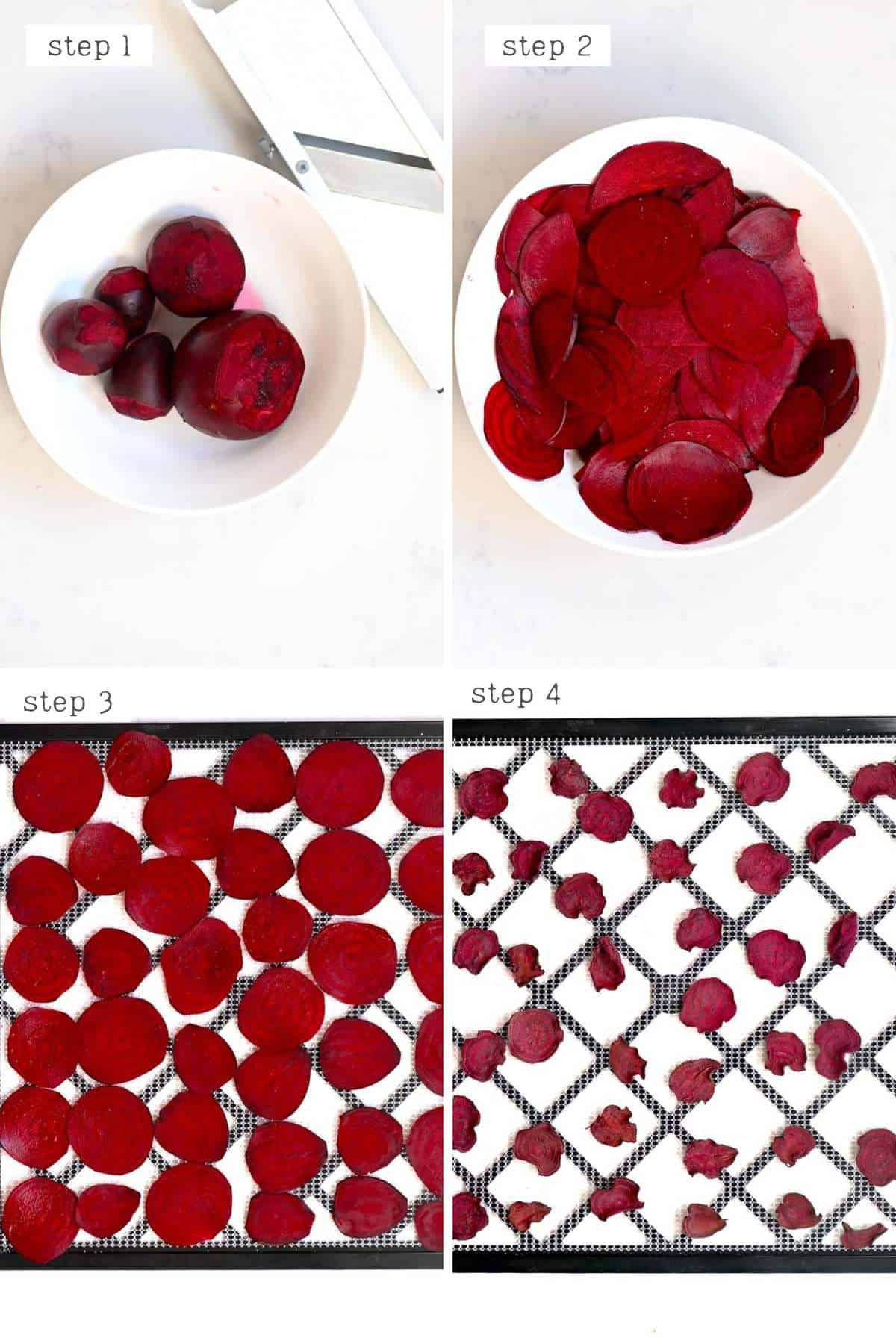 steps for making beetroot chips