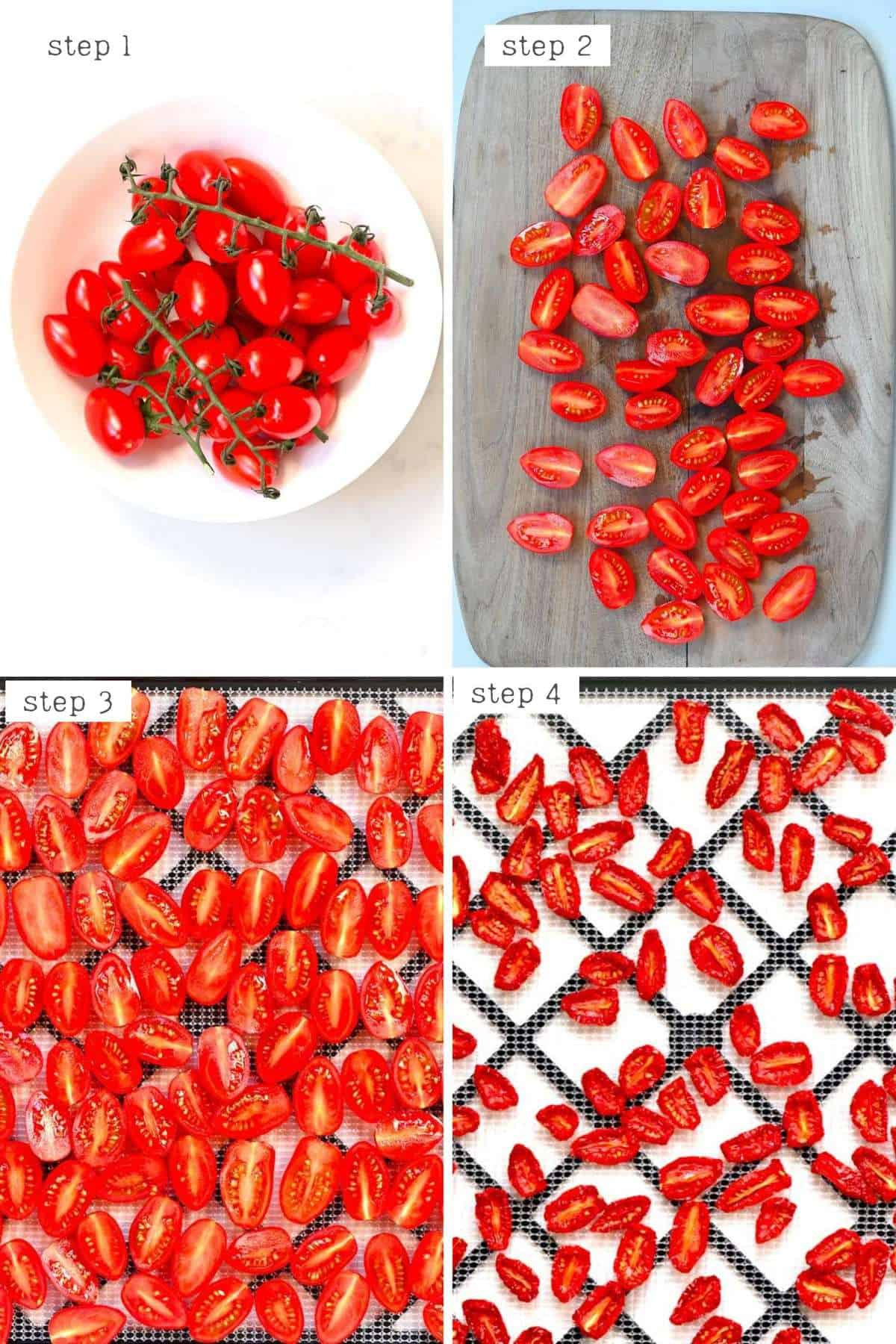 steps for making sun dried tomatoes