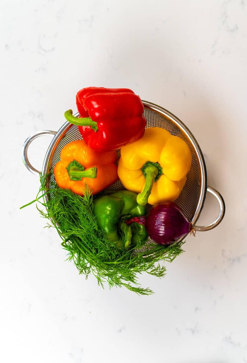 washed veggies inside a basket