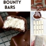 Steps to making homemade bounty bars