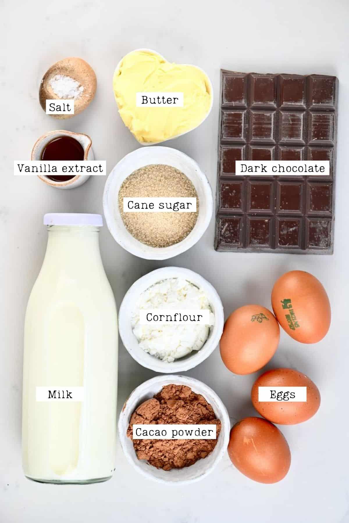 Chocolate Pastry Cream Ingredients