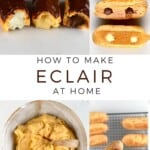 Steps to making Chocolate Eclairs