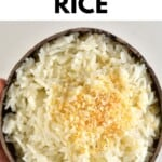 Coconut Rice in a coconut bowl