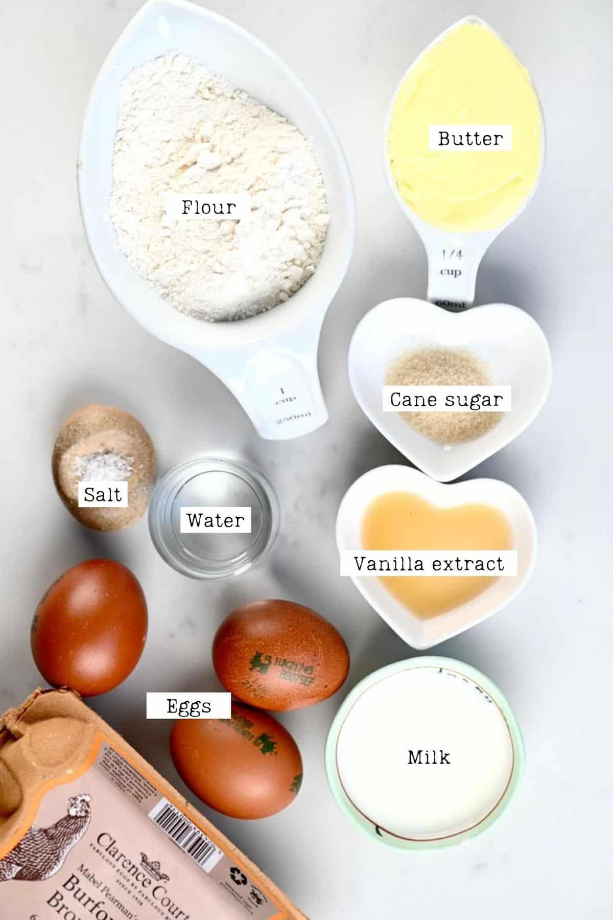 Eclair Pastry Ingredients