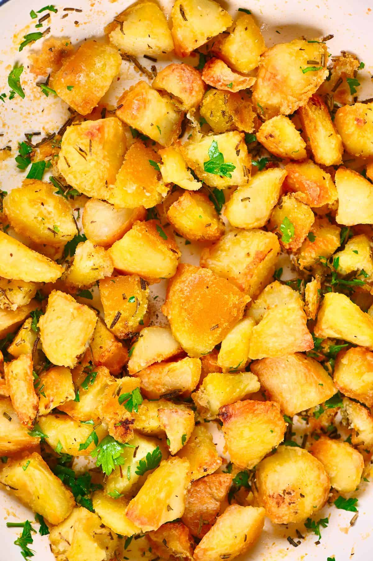 Close up of Roasted Potatoes