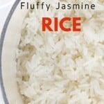 Close up of Fluffy Jasmine Rice