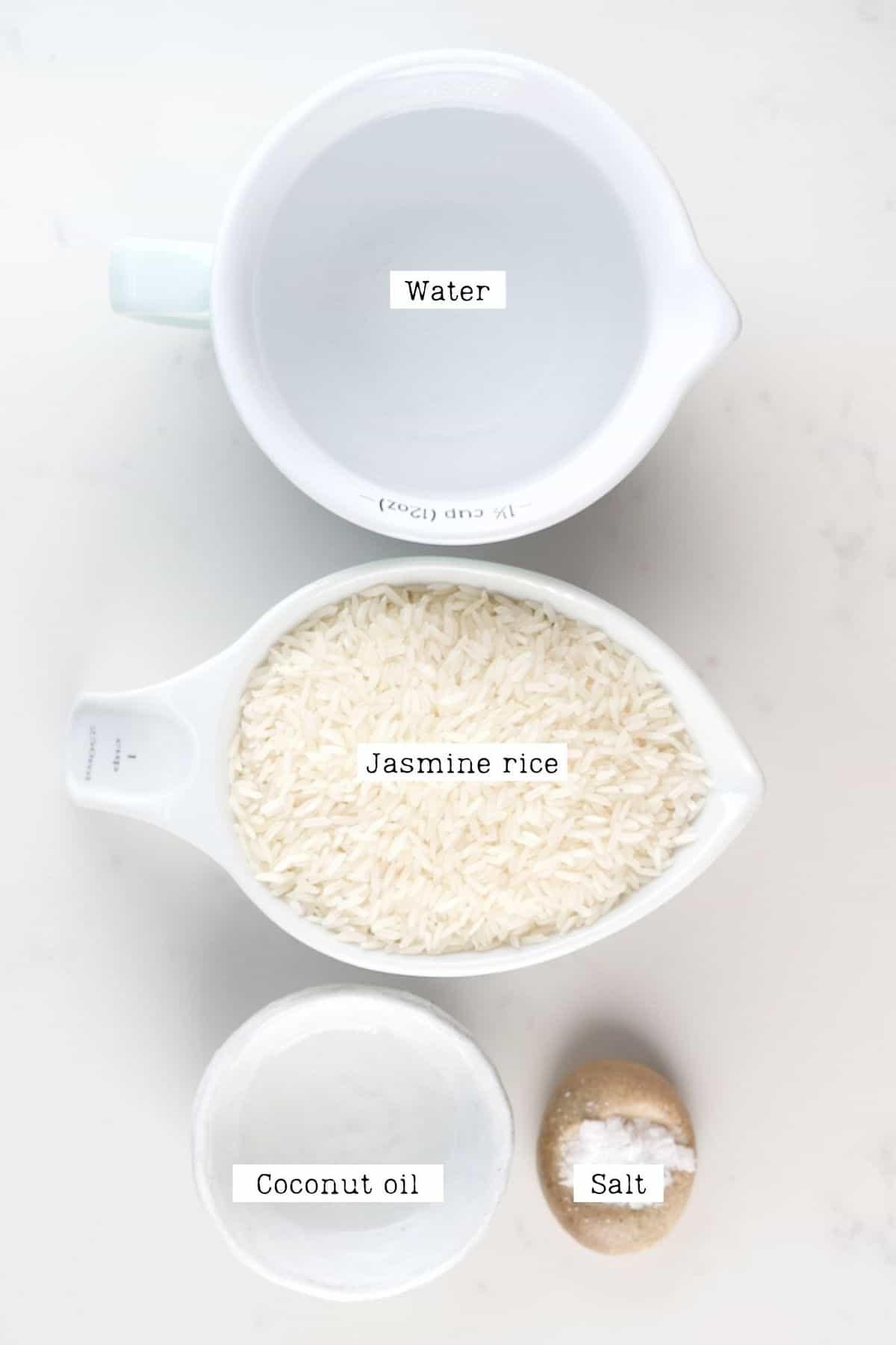 Fluffy Jasmine Rice Ingredients