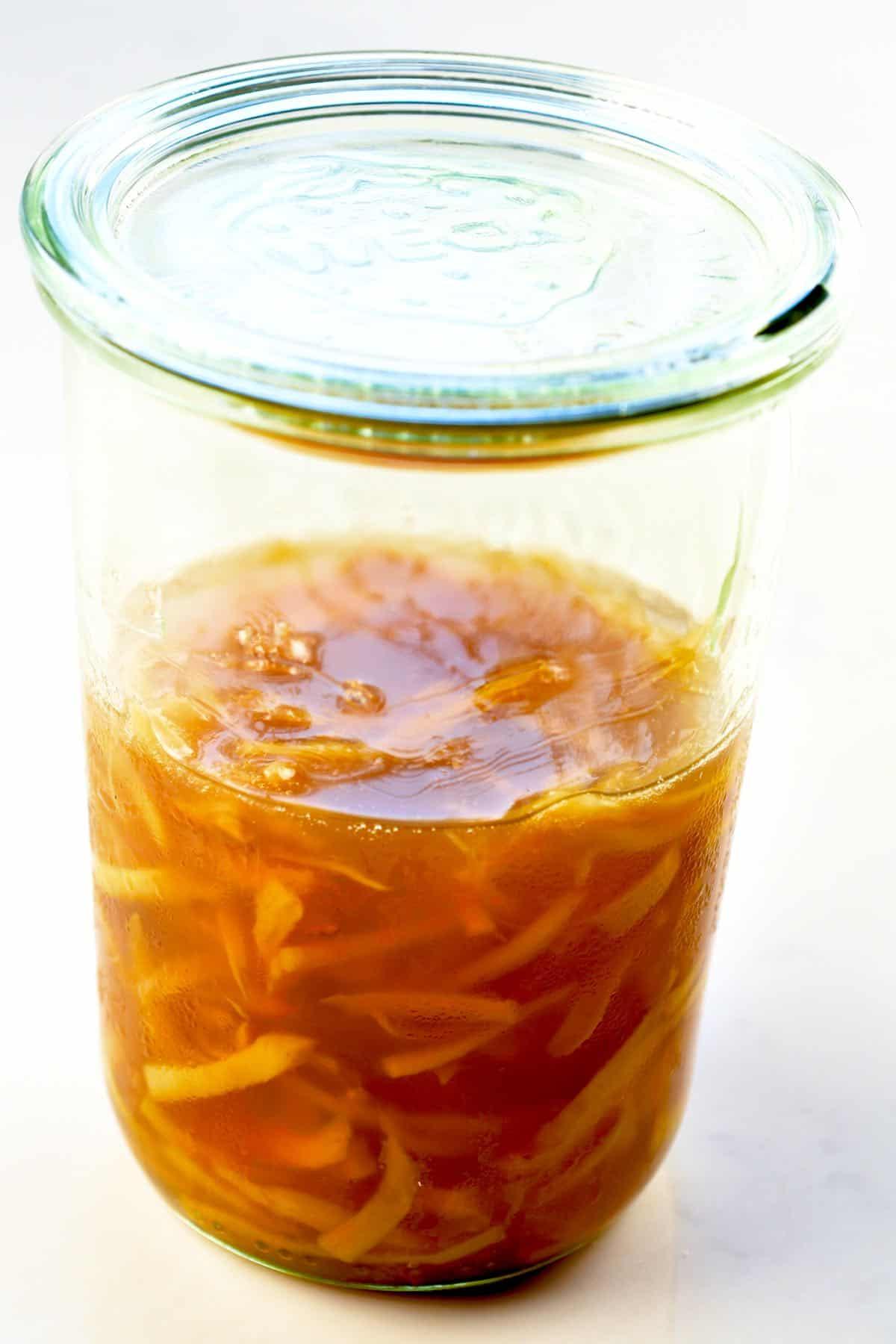 Ginger Jam in a jar