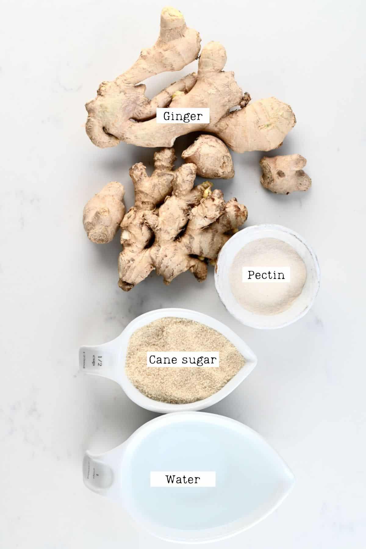 Ginger Jam Ingredients