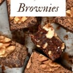 Squares of No-Bake Brownies