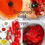 Steps for making Roasted Red Pepper Sauce