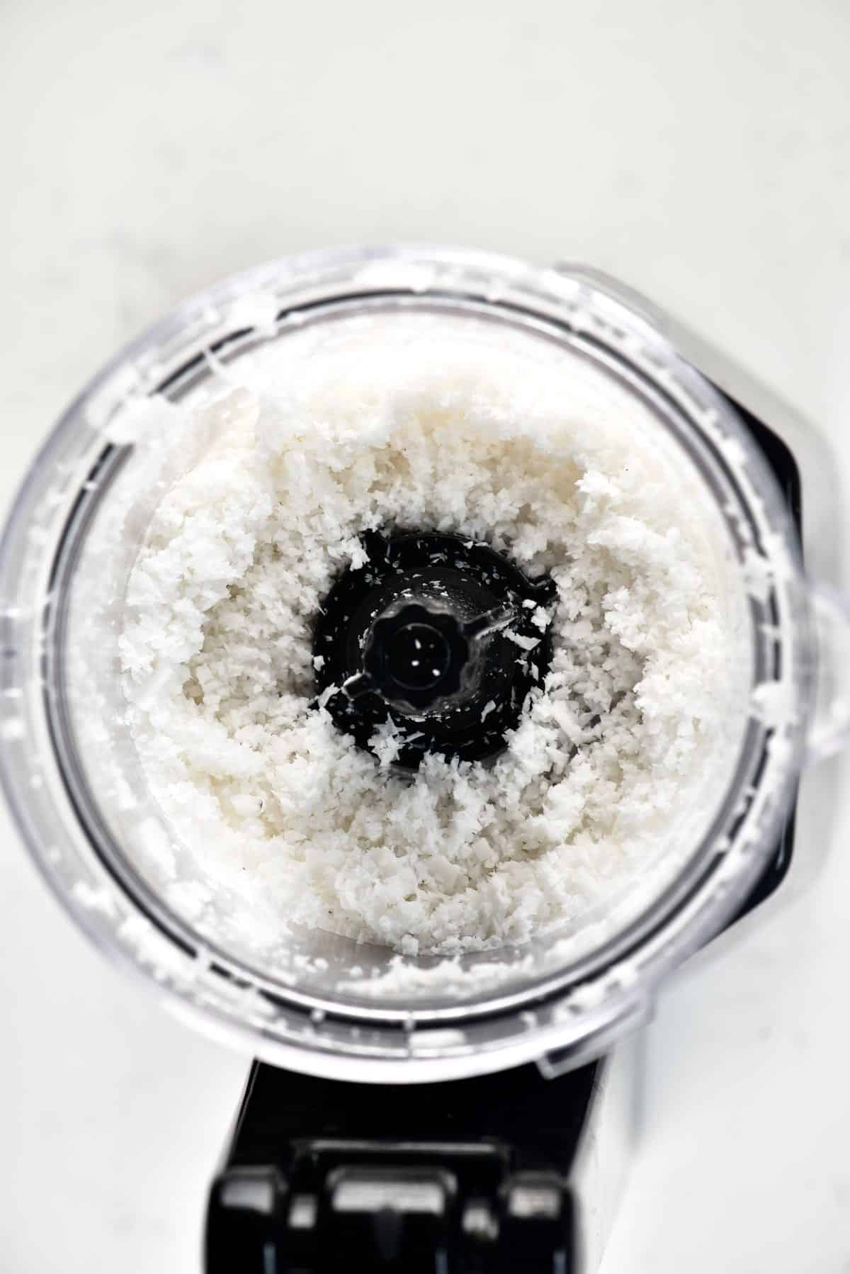 Shredded Coconut in a blender