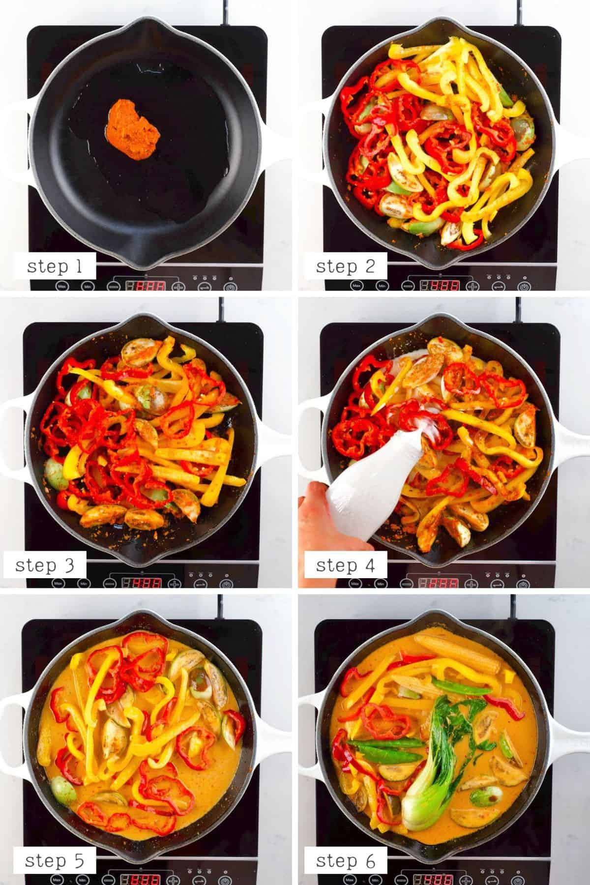 Steps for cooking Thai Red Curry