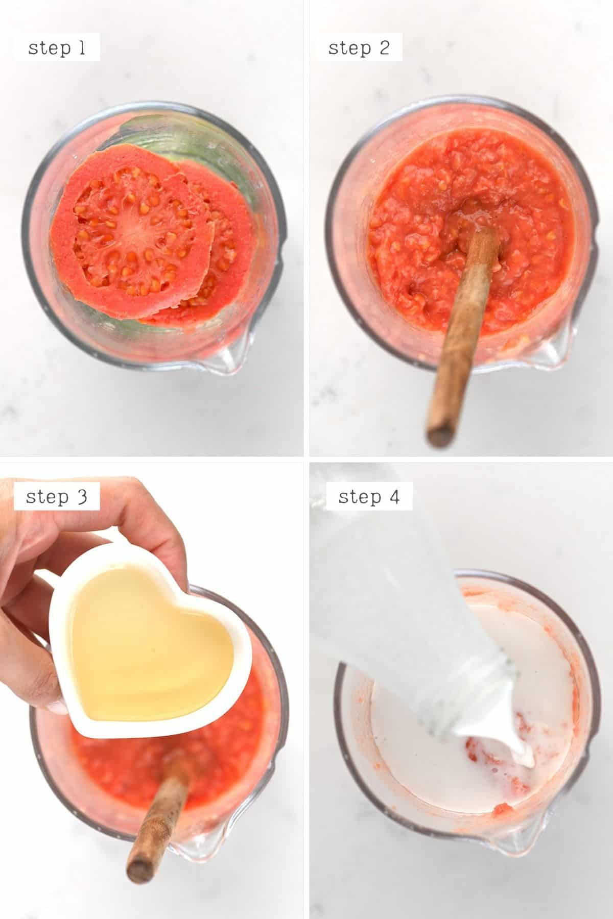 Steps for making a Guava cocktail