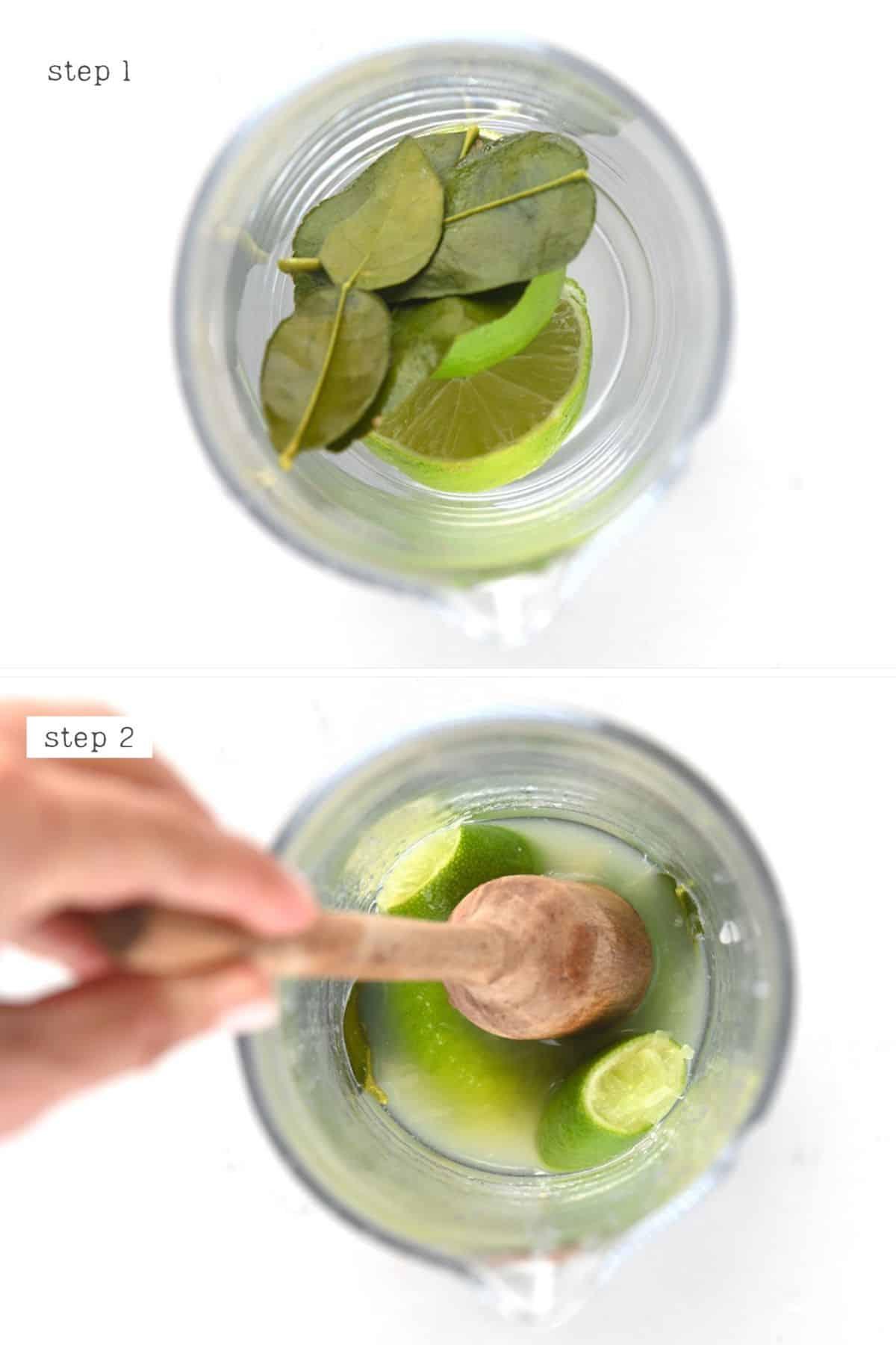 Steps to muddle lemon