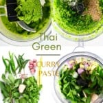 Steps to making Thai Green Curry Paste