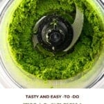 Thai Green Curry Paste in a blender