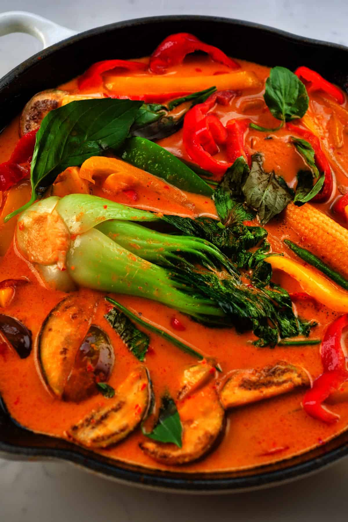 Thai Red Curry in a pan
