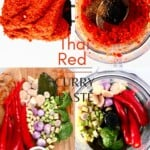 Steps for making Thai Red Curry Paste