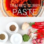 Ingredients for making Thai Red Curry Paste