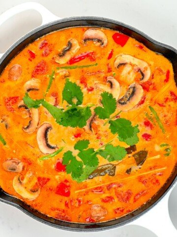 Tom Yum Soup in a large pot