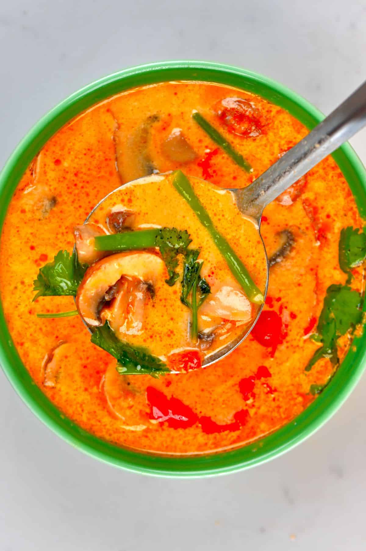 A bowl of Tom Yum Soup