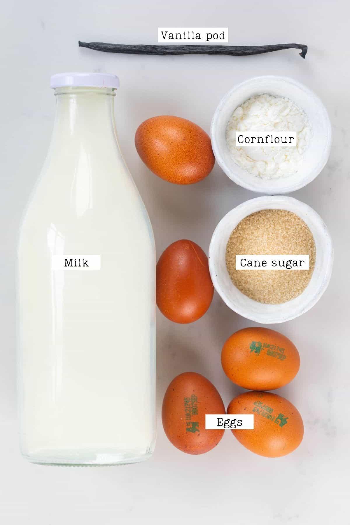 Vanilla Custard Ingredients