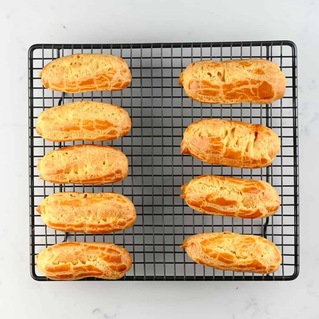 choux pastry square photo