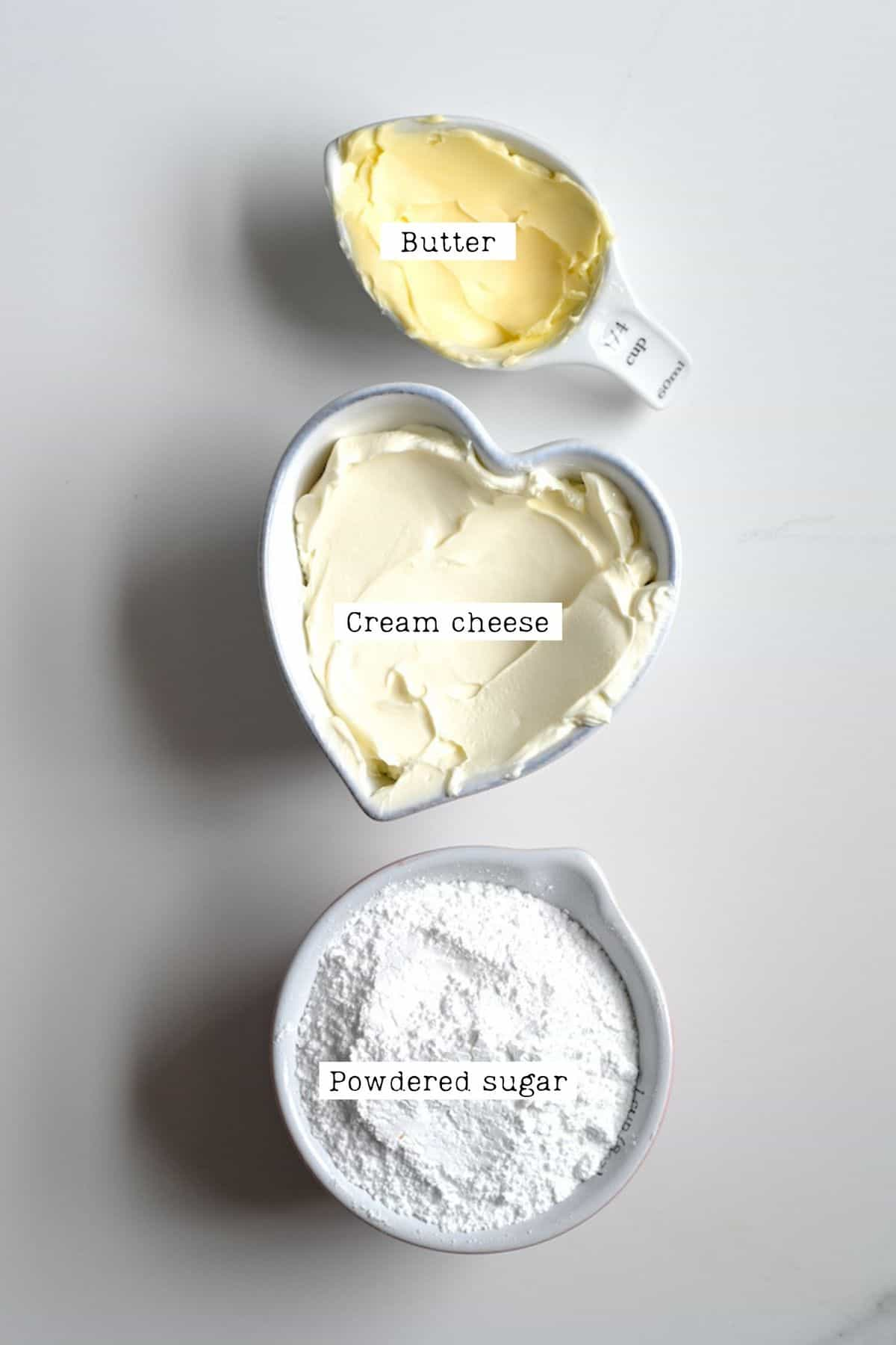 Cream Cheese Ingredients