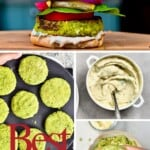 Steps to making a falafel burger