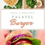 Ingredients for falafel burger