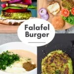 Steps for cooking falafel patties for vegan burgers