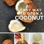 Different ways to open a coconut