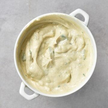 Tahini sauce in a bowl