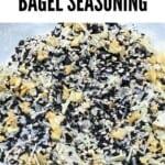 A close up of bagel seasoning