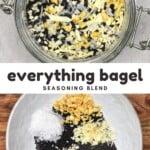Steps for making bagel seasoning