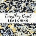 A close up of bagel seasoning blend