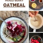 Steps for making berry oatmeal