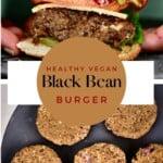 Black bean burger and black bean patties