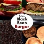 Steps for making black bean burgers