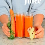 Two glasses of carrot juice