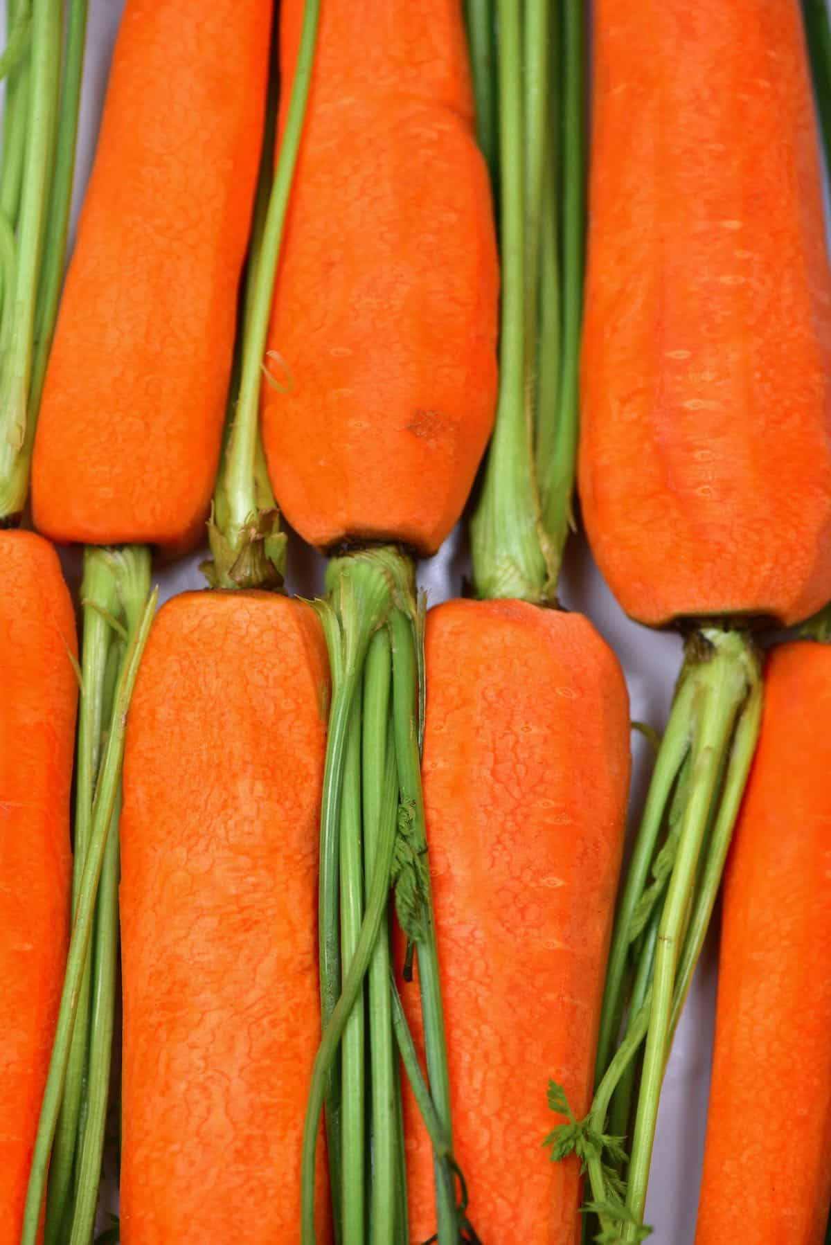 Carrots on a flat surface
