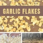Steps for making dried garlic flakes