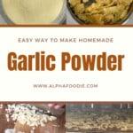 Steps to making garlic powder