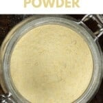 Garlic powder in a jar