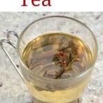 A glass of green tea