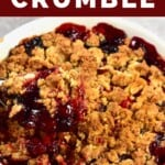 Berry crumble in a dish