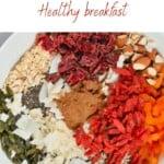 Muesli ingredients in a bowl