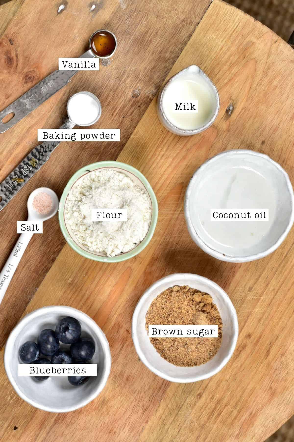 Blueberry Mug Cake Ingredients