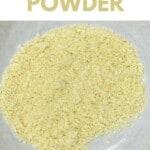 Dried onion powder in a bowl